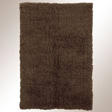 Modern Rugs Direct by Cocoa Brown Flokati Wool Shag Area Rugs
