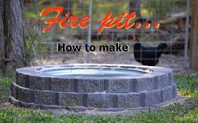 how to make a fire pit using retaining wall blocks plus galvanised
