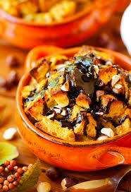 pumpkin foods spice bread pudding