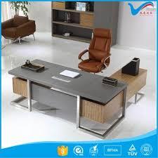 Stainless Steel Office Desk Luxury Office Table Executive Ceo Wooden Desk Office Desk W 07