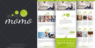 momo email template fonts html layout and dancing