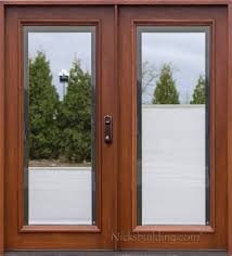 Patio Doors Wooden Between Glass