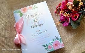 wedding ceremony booklet wedding card malaysia crafty farms handmade watercolour flower