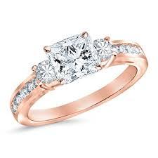 princess cut 3 engagement rings 1 17 carat 3 channel set princess cut engagement