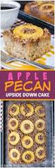 apple pecan upside down cake inside brucrew life
