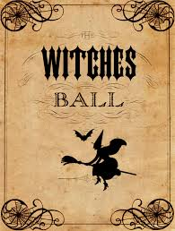 vintage halloween printable the witches ball the graphics fairy