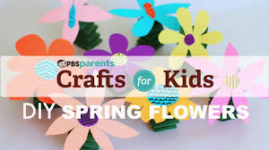 fun and spring y flowers crafts for kids pbs parents youtube