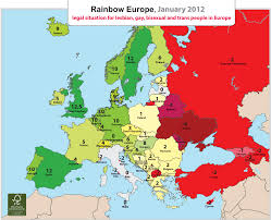 European Time Zone Map by Rainbow Europe Map And Index January 2012 Ilga Europe