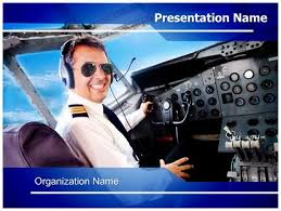 pilot airplane cockpit powerpoint template background