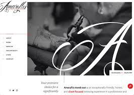 amaryllis tattoo artistry awwwards nominee