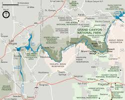 Colorado River Map by Grand Canyon 2016