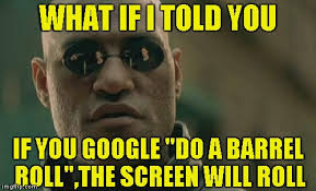 Barrel Roll Meme - what if i told you if you google do a barrel roll the screen will