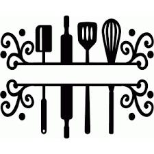 Kitchen Utensils Design by Silhouette Design Store View Design 73748 Split Kitchen Utensils