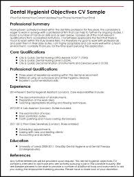 Example Of Chef Resume by Dental Hygienist Objectives Cv Sample Myperfectcv