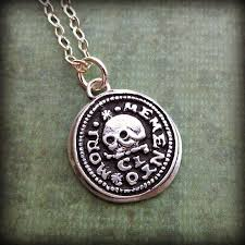Memento Mori - skull memento mori wax seal necklace shannon westmeyer jewelry