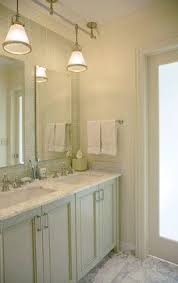 Cute Small Double Vanity For The Girls Bathroom With Glass Knobs - Bathroom vanities lighting 2