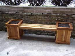 reclaimed poplar planter bench by warnimct lumberjocks com