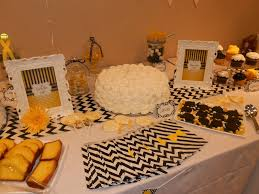 posh diva parties yellow and black little man baby shower