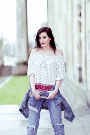 off the shoulder boho blouse street fashion glamourina