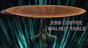 Walnut Sofa Table by Amish Reclaimed Solid Amish Reclaimed Walnut Live Edge Slab End