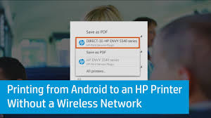 how to print from android printing from android to an hp printer without a wireless network