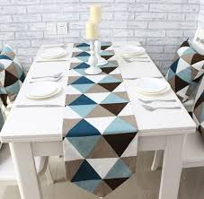 home decor table runner canvas triangle gemoetric rustic home decor table runner 4 size for