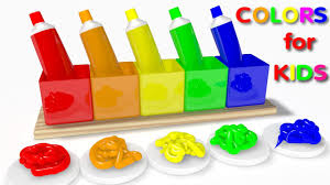learn colors with 3d colorful toothpaste for kids children