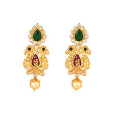 earrings in grt lalithaa jewellery gold jewellery collections kiran kumar