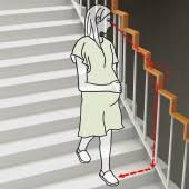 right angle stair handrail