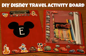 diy disney craft kids u0027 travel coloring activity board