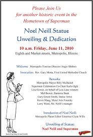 Unveiling Invitation Cards Noel Neill U2013 The Original Lois Lane Capedwonder Superman Imagery