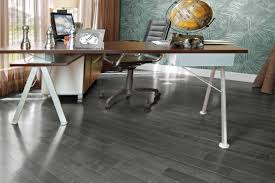 Grey Wood Floors Kitchen by Yellow Birch Charcoal Inspiration Collection By Mirage Floors