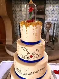 Beauty And The Beast Cake From Our Johnson And Clark Wedding Today