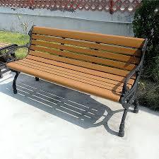 outdoor leisure landscape park bench seat finished cast aluminum