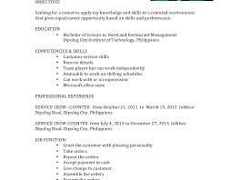 Resume Service Crew Download Ojt Resume Haadyaooverbayresort Com