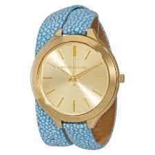 michael kors slim runway gold tone dial ladies dress watch mk2478