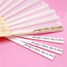 personalized wedding fans personalized clear fan labels 24 pieces hang tags and