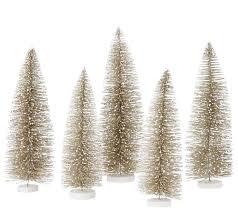 set of 5 decorative bottlebrush trees by valerie page 1 u2014 qvc com