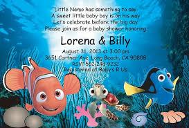 finding nemo baby shower baby shower invitations attractive finding nemo baby shower