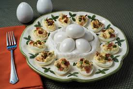 deviled egg serving dish smoky bacon deviled eggs tasty low carb