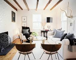 How To Decorate A Small Living Room - White wall decorations living room