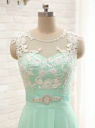 mint lace bridesmaid dresses aliexpress buy mint green bridesmaid dresses applique