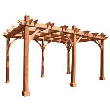 Pergola Kits Cedar by Outdoor Living Today Breeze Cedar 12 Ft X 16 Ft Pergola Bz1216