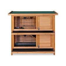Double Rabbit Hutches Double Storey Rabbit Hutch Cage With Foldable Ramp Buy Rabbit