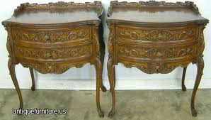 antique pair ornate french nightstands at antique furniture us