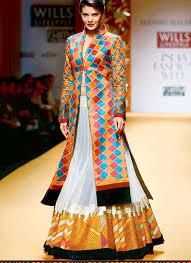designer westen jacqueline fernandez indo westen style wear gown