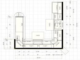 u shaped kitchen with island floor plans redtinku