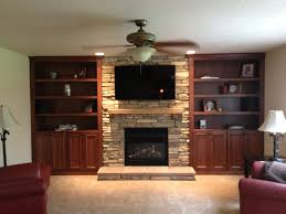 seemly stacked stone wall tile also diy fireplace ideas home