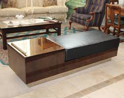 Leather Top Coffee Table Vintage Leather Top Table Etsy