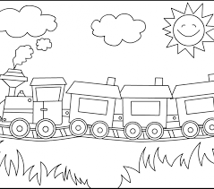 train colouring pictures kids coloring europe travel guides com